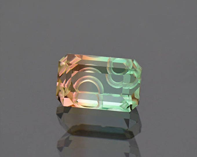 UPRISING SALE! Spectacular Tri Color Tourmaline Gemstone from Mozambique 3.56 cts.