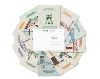 Portland Bridges Postcard Set