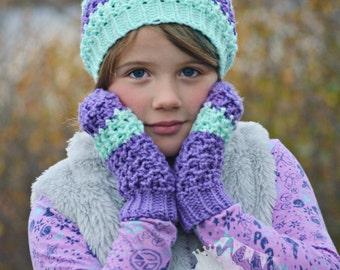Crochet Kids Mittens, Girls Knit Mittens, Boys Striped Mittens, Girls Crochet Gloves, Adult Mittens, Toddler Mittens, Baby Striped Mittens