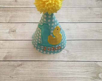 Rubber Duck Themed First Birthday Party Hat