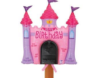 Princess Castle Mailbox Balloon, Princess Party Decoration, Princess Tea Party Decoration