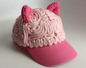 Brain Hat - Pussy Hat Ears Baseball Cap - READY TO SHIP