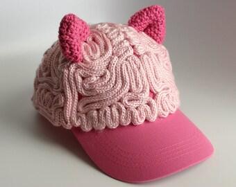 Brain Hat - Pussy Hat Ears Baseball Cap