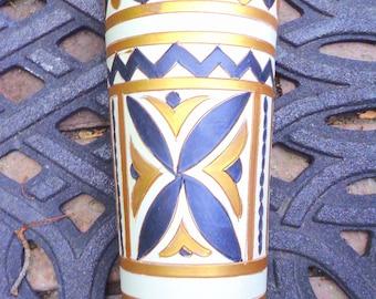 """mid century Italian Art Pottery signed ELBEE vase Italy !   10"""" - no damage"""