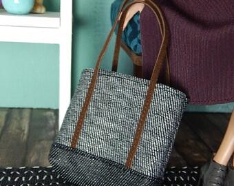 "Grey shopper - fashion doll bag for Fashion Royalty, FR2, Poppy Parker, NuFace and other 12"" fashion dolls"