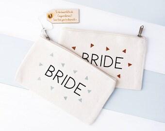 Bride Makeup Bag - Bridal Makeup Bag - Wedding Makeup Bag - Gift For Bride - Hen Party Gift - Bridal Gift - Cosmetic Bag - Bride Vanity Bag