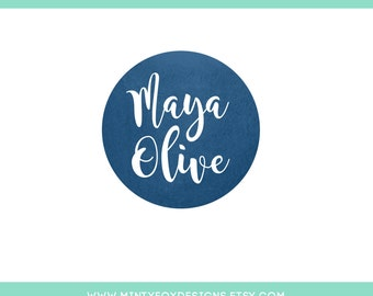Instant Download Logo, DIY Logo Template, PSD Logo Template, Editable Logo, Logo Photoshop Template, Badge Logo, Circle Logo, DIY Badge Logo