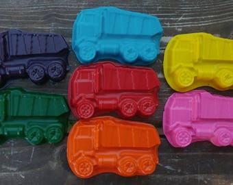 Dump Truck Crayons set of 10 - Construction Party Favors - Construction Crayons