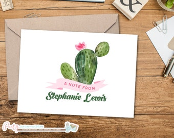 Personalized Note Card, Personalized Stationery, Personalized Stationary, Cactus Note Card, Cactus Stationery, Cactus Card, Note Cards
