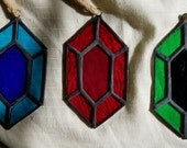Set of 3 Rupees Stained Glass Sun Catchers