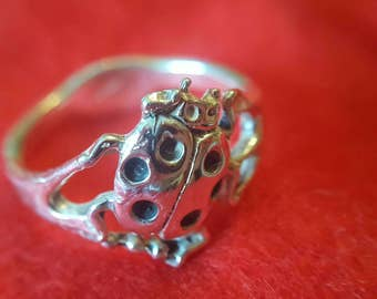 Sterling Silver Lady Bug Ring (st - 1988)