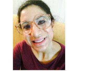 Vintage 1980s ADENSCO Eyeglasses Frame #1008 in Large Round Shape (ACO-01)