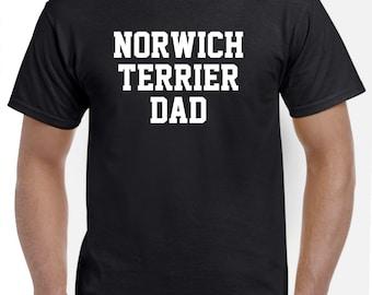Norwich Terrier Dad Shirt Tshirt Gift