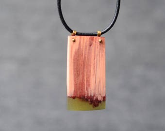simplistic necklace, modern jewelry, wood pendant, wood and resin necklace, gift for coworker, nature jewelry