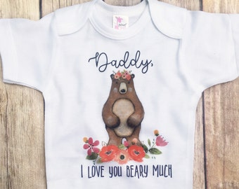 ON SALE Fathers day gift from daughter, Gifts for Dad, First Father's Day present, floral crown, woodland animals, shirt for dad