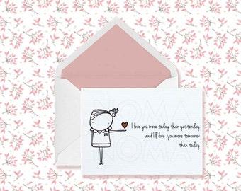 Valentines printable postcard , Valentines day gift, Valentines day card, Love postcards, Valentines postcard, Valentines card, Valentines