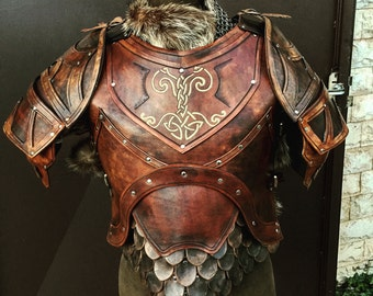 Viking LEATHER ARMOR - COMPLETE Set Reenactment Larp [made on order]