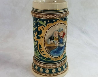 Vintage Stein by by Merkelbach & Wick, Stein Base 1132C, Vintage Tankard, Collectible Stein, Gift for Him, Beer Lovers Gift