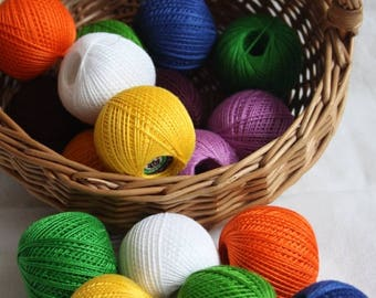 IRIS: Color cotton Yarn 25gr - more that 100 color available