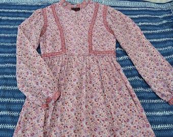 Ritu kumar for Roshafi  vintage Indian cotton Gypsy Festival dress Folk boho hippy  dress  s Uk 8  US  4 xs hand blocked dress