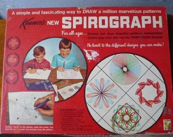 Vintage Spirograph Set Kenner 1967 Draw Patterns Design Kit