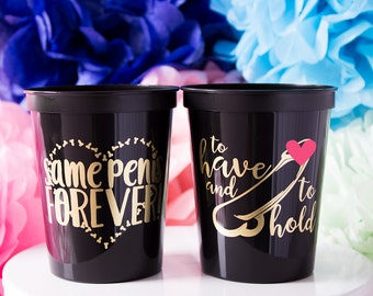 Same Penis Forever, Bachelorette Party Favor, Hen Party, Bridal Party, Plastic Stadium Cup, Personalized Cups, Bar Crawl, Bridal Party Cups