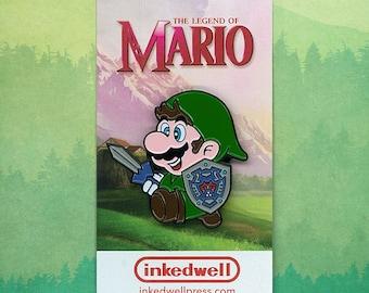 Link Suit Mario (Nintendo's Legend of Zelda) Enamel Pin