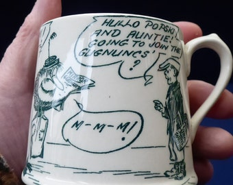 1920s Royal Doulton Daily Mirror Pip, Squeak & Wilfred Child's Mug. EXTREMELY RARE