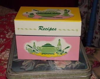 vintage recipe box ohio art