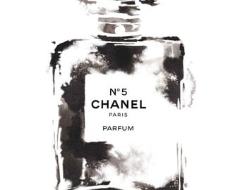 Coco No.5 Perfume Paris Chanel Watercolour Painting