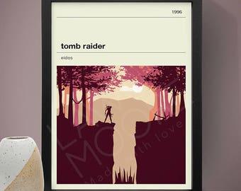 Tomb Raider Gaming Print, Gaming Print, Games, Tomb Raider Poster