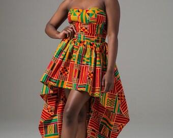 African clothing for women, African dress, Ankara dress, Dashiki women's dress, Angelina, Dashiki dress, African print shirt (KENYA dress)