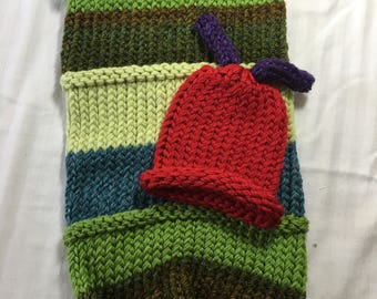 Newborn Cocoon and Hat: Hungry Caterpillar inspired