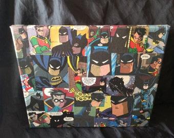 Batman And Robin canvas 30cm by 26cm