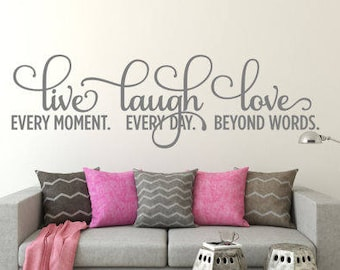 Live Laugh Love Wall Decal  Wall Decal Bedroom Wall Decal