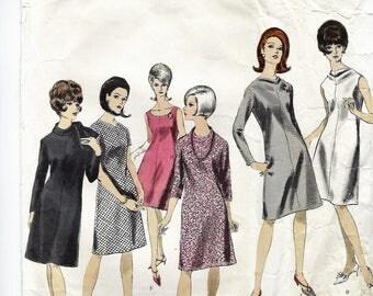 "Vogue Basic Design 1544  One Piece Basic Dress  Size 12  Bust 34"""