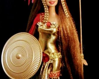 Athena Greek Goddess of Wisdom & Battle ~ Dakotas Song OOAK Barbie doll