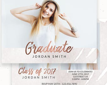 Graduation Announcement, Simple Graduation Announcement, Senior Photography, Marketing Template, Grad, Graduation Template, High School c162