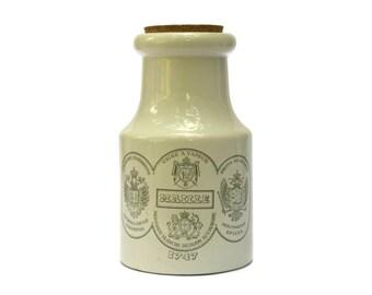 Ancien Français publicité Grand Pot a moutarde Maille. Pot à moutarde grès 1930. Pot de moutarde collection Français.