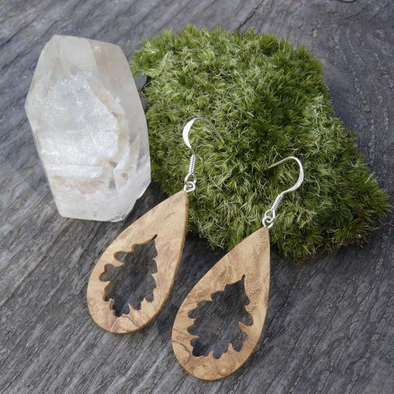 Lightweight Teardrop Earrings, Oak leaf dangle earrings, Oak leaf jewelry, Boho Hippie earrings, Nature lover gift, Gift for her