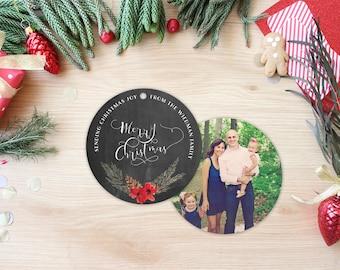 Ornament Photo Christmas Cards - Custom Holiday Cards - Unique Card Idea