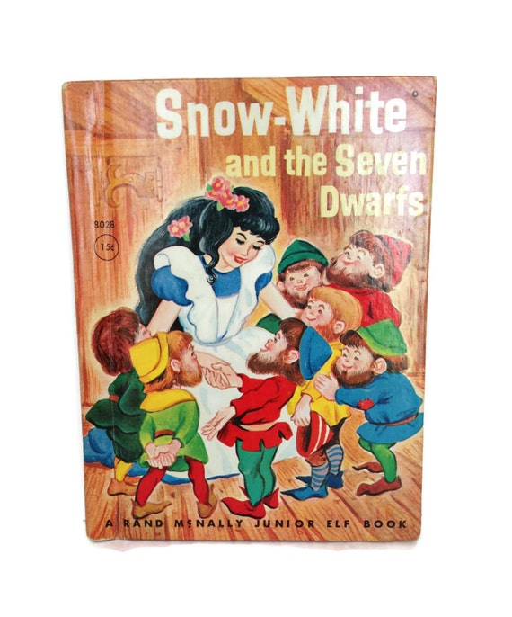 Vintage children's book Snow White and the seven dwarfs 1959 junior elf
