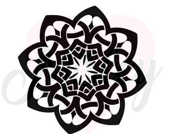 Mandala SVG, PNG, and STUDIO3 Cut Files for Silhouette Cameo/Portrait and Cricut Explore DIY Craft Cutters