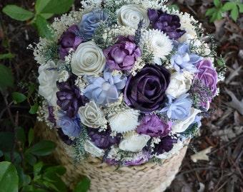Wedding Bouquet Fall Bouquet Plum Bouquet Purple Bouquet Plum Lavender Bouquet Sola Bouquet Fall Bouquet Periwinkle Plum Lavender Purple