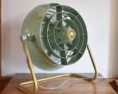 Green Hunter Floor Fan, Working 2 Speed Electric Ducted Fan Model V12 4 Blade, Industrial Steampunk Studio Salon Floor Shop Fan