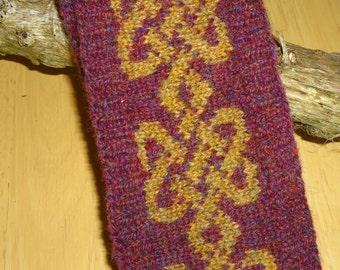 Shetland Wool Celtic design headband