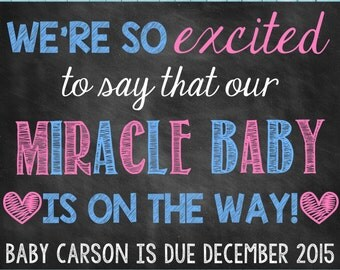 Miracle Pregnancy Reveal // Miracle Pregnancy Announcement // Miracle Baby