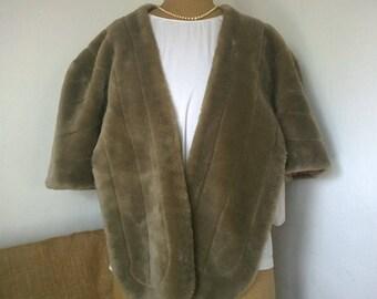 Authentic 1950s faux Fur stole / wrap / bolero