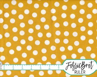 MUSTARD YELLOW Fabric by the Yard, Fat Quarter Polka Dot Fabric Yellow Dot Fabric 100% Cotton Quilting Fabric Apparel Fabric Yardage a4-18