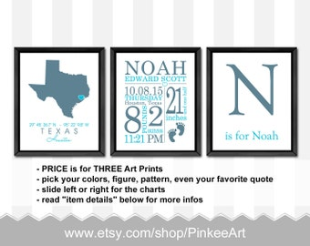 baby boy birth announcement, baby boy gift, personalized baby gifts, birth stats wall art, baby nursery decor, baby stats, baby boy decor